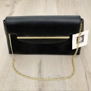 AK Medium Black Shoulder Clutch Purse